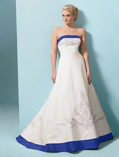 1000 images about wedding dress designs on pinterest for Wedding dress with blue trim