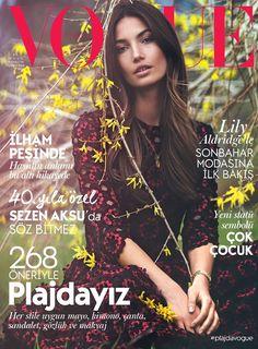 Lily Aldridge by David Bellemere Vogue Turkey July 2015 cover
