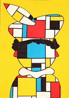 Sinterklaasknutsel Piet Mondriaan Sinterklaas knutselen Piet Mondriaan The po… - Kunstunterricht Mondrian, Winter Crafts For Kids, Diy For Kids, Female Monster, Art Plastique, Art Lessons, Winter Wonderland, Art Drawings, Saints