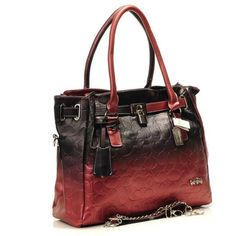 2017 New Coach Bagscoach Bag Kristin Embossed Leather Red Shoulder Canada Canadaoutlet