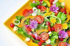 Salad With Flowers, Fruit And Vegetables - Download From Over 27 Million High Quality Stock Photos, Images, Vectors. Sign up for FREE today. Image: 46806599