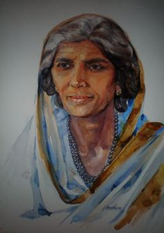 Mohtarma Fatima Jinnah - Watercolor on Arches Paper