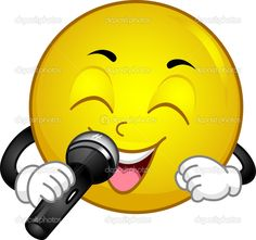 Singing Smiley — Stock Photo © lenmdp #