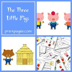 Three Little Pigs Fairy Tale Activities for Preschool and Kindergarten