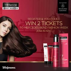 Enter to Win a $4,500 AMEX gift card & 2 Invitations to Mercedes-Benz Fall Fashion Week from TRESemme® - http://www.dealiciousmom.com/enter-win-4500-amex-gift-card-2-invitations-mercedesbenz-fall-fashion-week-tresemme/