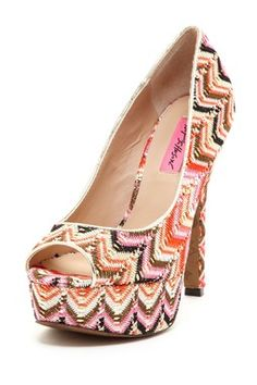 I love this funky Betsey Johnson Sashh Pumps!
