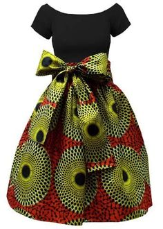 Meni African Print High Waist Skirt (Dark Orange/Green) by aosuamkpe African Print Skirt, African Print Clothing, African Print Dresses, African Print Fashion, African Prints, Africa Fashion, African Fabric, African Dresses For Kids, Latest African Fashion Dresses