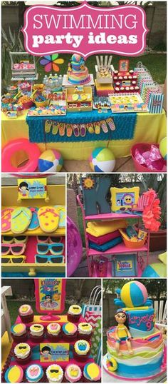 Kid Pool Party Ideas cheers to summer surfer style kids pool party ideas Such An Amazing Cake At This Swimming Party See More Party Ideas At Catchmyparty