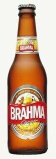 Cerveja Brahma Chopp, estilo Standard American Lager, produzida por AmBev, Brasil. 5% ABV de álcool.