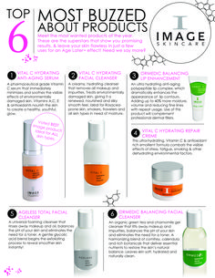 Top 6 products from Image Skincare line