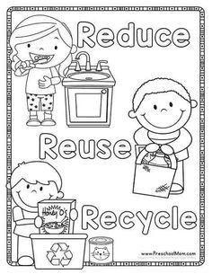Earth Day Preschool Printables - Preschool Mom - Welt Umwelt etc - Dinner Recipes Earth Day Worksheets, Earth Day Activities, Earth Day Projects, Earth Day Crafts, Earth Day Coloring Pages, Coloring Books, Fall Coloring, Preschool Coloring Pages, Kids Coloring