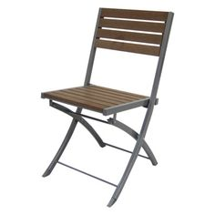 Patio Folding Chair Thrshd Both The Wood And Steel That I Want. 59.
