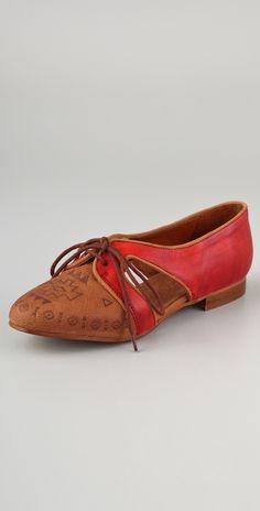 Miista Xenia Lace Up Flats - $170.00