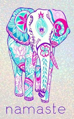 Wisdom is represented by the elephant in the form of the deity Ganesh, one of the most popular gods in the Hindu religion's pantheon.-Meditation and Yoga is soo relaxing xx What's My Favorite Color, My Favorite Things, Alzheimer Tattoo, Elefante Hindu, Kunst Tattoos, Drawn Art, Elephant Love, Colorful Elephant, Elephant Art