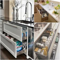 The Ideal Kitchen: Under Sink Drawers // Live Simply by Annie