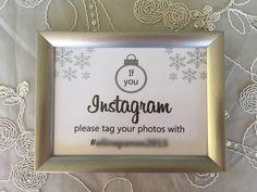 Instagram sign - xmas wedding Instagram Sign, Xmas, Signs, Frame, Wedding, Picture Frame, Valentines Day Weddings, Weihnachten, Shop Signs