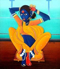 M D Rustum - Singaram  1995 Oil on Canvas