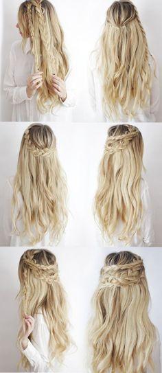 Si tienes el pelo largo y te gusta la onda boho/chic, prueba con este peinado ridículamente fácil de hacer. | Los 19 peinados más trendy para graduarte con estilo