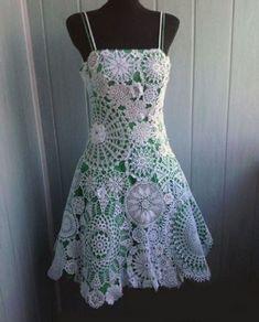 Ladies Fashion Designer Suit when Crochet Dress Pattern For One Year Old Crochet Wedding Dresses, Crochet Summer Dresses, Crochet Skirts, Crochet Clothes, Prom Dresses, Freeform Crochet, Irish Crochet, Crochet Doilies, Crochet Lace