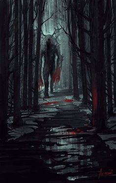 D&D creepy monsters character art, fantasy forest, forest art, dark fantasy Dark Fantasy Art, Fantasy Artwork, Dark Art, Fantasy Forest, Forest Art, Magical Forest, Dead Forest, Tree Forest, Arte Horror