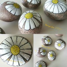 #marguerite #malpåsten #minesten #mintid #sten #rockart #posca #stonepaintingart #stenkunst #rockart #posca