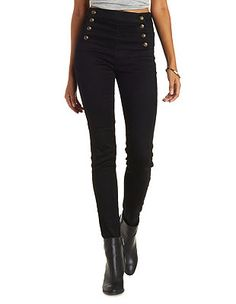 Cello Button-Up High Waisted Jeans: Charlotte Russe
