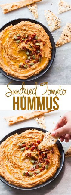 This easy recipe for creamy sundried tomato hummus doesn't require tahini, but has exact proportions for using sesame seeds instead.