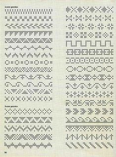 Ideas For Embroidery Stitches Border Fair Isles Fair Isle Knitting Patterns, Fair Isle Pattern, Knitting Charts, Loom Patterns, Knitting Stitches, Cross Stitch Borders, Cross Stitch Designs, Cross Stitching, Cross Stitch Embroidery