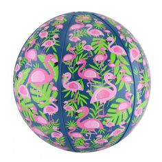 FineLife Flamingo Beach Ball Set - Includes Two 10 Beach Balls with Trendy Flamingos Design - Great Pool, Water Fun & Outdoor Play Toy. 1 CLEAR & 1 BLUE - Inside the set are 2 different beach balls, both with Flamingos on the outside. Flamingo Craft, Flamingo Beach, Flamingo Decor, Pink Flamingos, Pretty Birds, Pretty In Pink, Cute Pool Floats, Beach Ball Party, Flamboyant