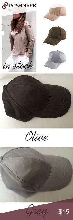 Tan Suede Baseball Cap New in package. Material: Faux Suede, so soft and comfortable. Has an adjustable strap for your desired fit. I have one of my own! Price is firm unless bundled. Limited Quantity! b.l.p Accessories Hats