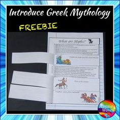 This is a simple introductory activity to Greek Mythology. I use this to acquaint students with the genre and basics, so they are prepared to read, understand and complete further tasks.There is a simple explanation, followed by interactive worksheets to establish understanding.This is a great activity to couple with my Greek myths.Greek Myth PANDORAMore GREEK MYTHS to follow soon.I have other myths, individual items and BUNDLESReading Myths and Legends BUNDLE 2All tales are available as…