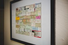 I framed all my old concert tickets :)