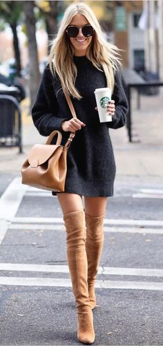 #winter #outfits black sweater