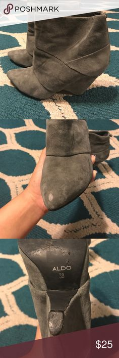 Aldo booties Grey Aldo booties size 38 comfy and cute Aldo Shoes Ankle Boots & Booties