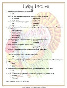 10 Thanksgiving Trivia Questions - Kitty Baby Love