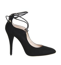 7a05f5420b74 Buy Mink Suede Black Patent Office Arch Toe Cap Point Heels from OFFICE.co.uk.  See More. Office