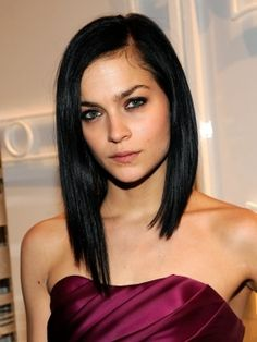 Leigh Lezark's long asymetrical bob is my hair inspiration for 2012...now I just need the guts to do it