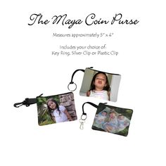 The Maya Coin Purse  #uniquephotobags #uniquegift #photobag #photopurse #keepsake #memorablekeepsake