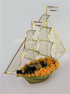 Gallery.ru / Фото #19 - Скульптурные композиции - irusha12 Deco Floral, Arte Floral, Floral Design, Felt Flowers, Diy Flowers, Flower Decorations, Paper Bouquet, Candy Bouquet, Wedding Plates