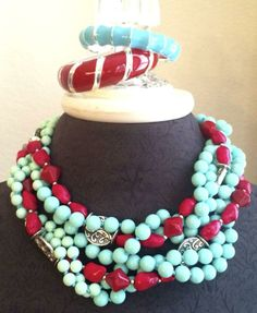 combine old necklaces