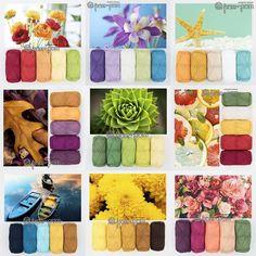 Paint Color Combos, Yarn Color Combinations, Colour Pallette, Colour Schemes, Crochet Ripple Blanket, Afghan Crochet Patterns, Color Blending, Color Mixing, Color Plan