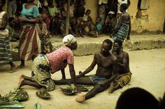 ouyou seimo, ritual to address problems caused by nature spirits. Korokorosei, Olodiama clan. Central Ijo peoples, Nigeria, 1979. Photo by Martha G. Anderson.