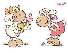 Wandtattoo Amy & Frances essen Eis