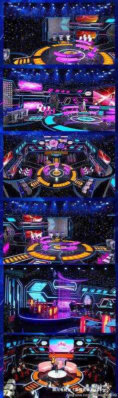 房辉_新浪博客 Tv Set Design, Stage Set Design, Event Design, Virtual Studio, Event Production, Concert Stage, Tv Sets, New Program, Mice