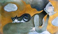 Pinzellades al món: En femení: il·lustracions de gats -Il·lustració de Lauraballa