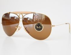 3eab3d0519 Vintage Ray-Ban B 62mm Arista Bullet Hole Shooter Sunglasses NOS with Brown  Mirror Lenses
