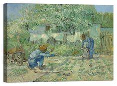 Quadro Stampa su Tela Vernice Effetto Pennellate Van Gogh Starry Night