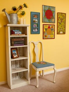 junk gypsy decorating ideas | old game boards as art! {junk gypsy co, http://gypsyville.com/ }