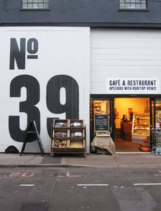 No 39--- Combining street number signage with overall design and identity. | large typography