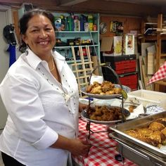 Sherry Pocknett cooks the Wampanoag foods she learned to make with her parents and in her 12 years of working at The Flume, the Mashpee restaurant formerly run by her uncle, Mashpee Wampanoag chief Earl Mills. Pocknett's grandmother was Mills' sister and The Flume's dessert-maker.